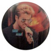 George Michael - 'Singing' Button Badge